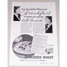 1934 NBC Shredded Wheat Print Ad - Breakfast Till Lunch!