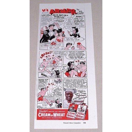 1942 Cream Of Wheat Li'l Abner by Al Capp Cartoon Art Print Ad