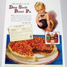 1948 Karo Syrup Deep South Peanut Pie Recipe Color Karo Kid Art Print Ad