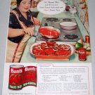 1960 Hunt's Tomato Paste Baked Round Steak Recipe Color Print Ad