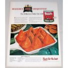 1948 Hunt's Tomato Sauce Oven Croquettes Recipe Color Print Ad