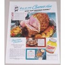 1949 French's Mustard Baked Ham Recipe Color Print Ad