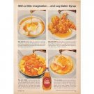1958 Log Cabin Syrup Color Print Ad - With A Little Imagination