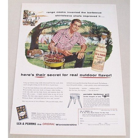 1956 Lea & Perrins Worcestershire Sauce Color Print Ad