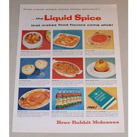 1958 Brer Rabbit Molasses Color Print Ad - Liquid Spice