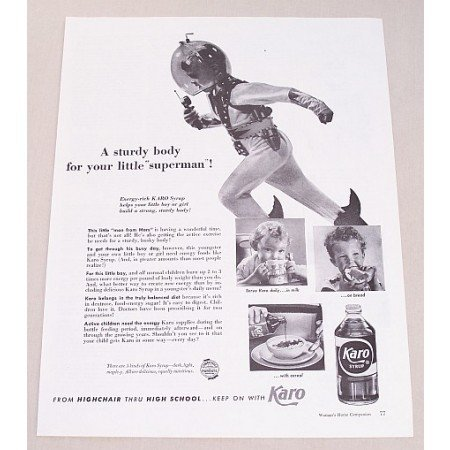 1953 Karo Syrup Print Ad - This Little Man From Mars