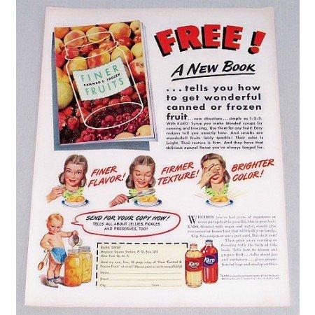1947 Karo Syrup Karo Kid Art Color Print Ad
