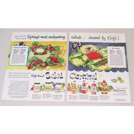 1953 Kraft Dressings Spreads Color Print Ad - Krafts Carnival