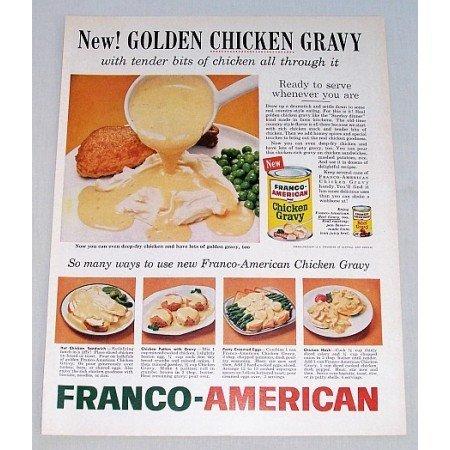 1960 Franco American Chicken Gravy Color Print Ad