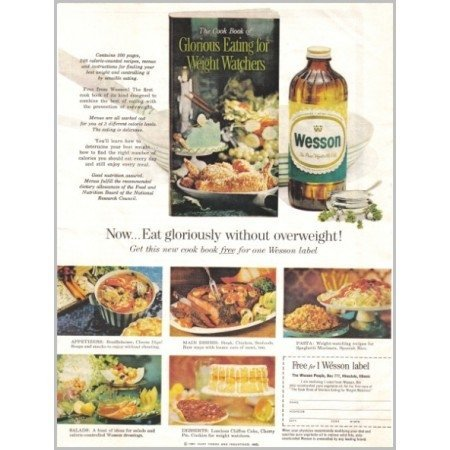 1961 Wesson Vegetable Oil Color Print Ad