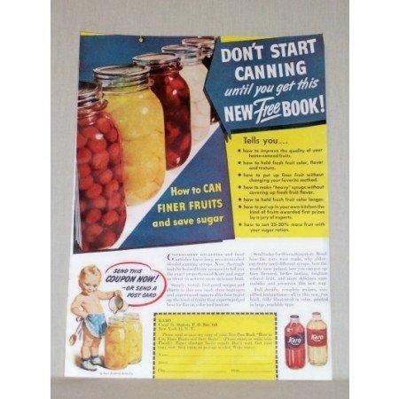 1945 Karo Syrup Karo Kid Canning Book Offer Color Print Ad