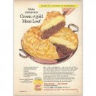1959 French's Mustard Crown O Gold Meatloaf Recipe Color Print Ad