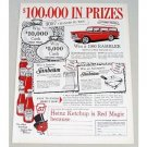 1960 Heinz Ketchup Rambler Station Wagon Contest Color Print Ad