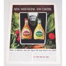 1961 Wish-Bone Low Calorie Salad Dressings Color Print Ad