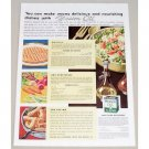 1938 Wesson Oil for Salads Color Print Ad