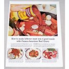 1956 Franco American Beef Gravy Beef Stew Recipe Color Print Ad