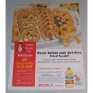1958 Mazola Corn Oil Golden Fry Batter Recipe Color Print Ad
