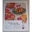 1958 Ocean Spray Cranberry Sauce Color Print Ad - Roast Pork