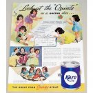 1937 Karo Syrup Color Print Ad - Look At The Quints