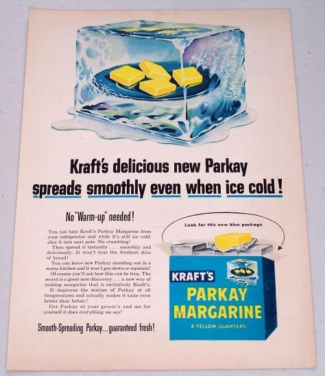 1952 Kraft's Parkay Margarine Vintage Color Butter Food Print Ad