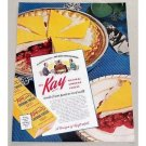 1949 Kay Natural Chedder Cheese Color Print Ad