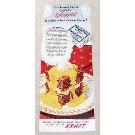 1947 Kraft Philadelphia Cream Cheese Color Print Ad