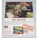 1947 Nucoa Oleomargarine Color Print Ad - Your Life Work