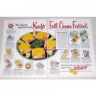 1953 Kraft Fall Cheese Festival 2 Page Color Print Ad
