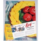 1948 Kay Natural Chedder Cheese Color Print Ad