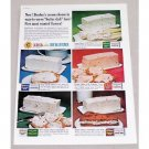 1960 Borden's Cream Cheese Butter Dish Bars Color Print Ad