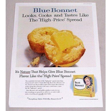 1960 Blue Bonnet Margarine Color Print Ad