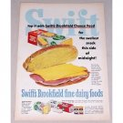 1952 Swift's Brookfield Processed Cheese Food Color Print Ad