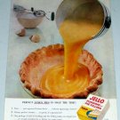 1954 Jello Pudding Pie Filling Color Lemon Pie Food Print Ad