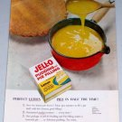 1954 Jello Pudding Pie Filling Lemon Pie Color Food Print Ad
