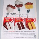 1960 Swans Down Cake Mix Color Dessert Print Ad
