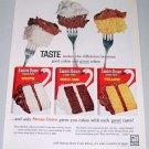 1960 Swans Down Cake Mix Color Dessert Print Ad