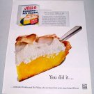 1960 Jello Pudding Pie Filling Magical Lemon Meringue Pie Recipe Color Print Ad