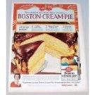 1958 Betty Crocker Boston Cream Pie Mix Color Print Ad