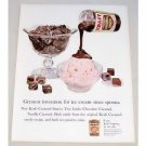 1961 Kraft Chocolate Caramel Sauce Color Print Ad