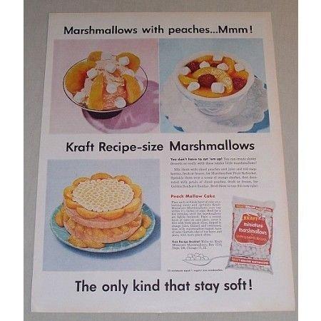 1958 Kraft Miniature Marshmallows Color Print Ad