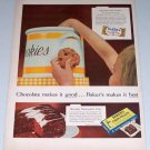 1954 Baker's Chocolate Cookie Jar Color Print Ad