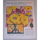 1955 Libby's Sliced Pineapple Color Print Ad