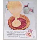 1953 Jello Coconut Cream Style Pudding Pie Filling Color Print Ad