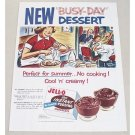1954 Jello Chocolate Instant Pudding Color Art Print Ad