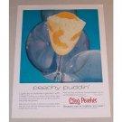 1958 California Cling Peaches Color Print Ad - Peachy Puddin'