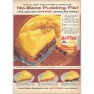 1959 My-T-Fine Pie Filling Pudding Pie Recipe Color Print Ad