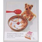 1954 Jello Pudding and Pie Filling Stuffed Tiger Color Print Ad
