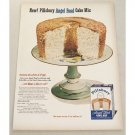 1952 Pillsbury Angel Food Cake Mix Color Print Ad