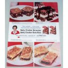 1957 Betty Crocker Date Bar Brownie Mix Color Print Ad