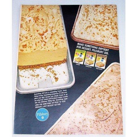 1966 Pillsbury Something Different Freezer Dessert Color Print Ad